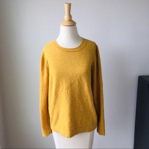 J. Crew Factory Sunshine Yellow Teddie Sweater L